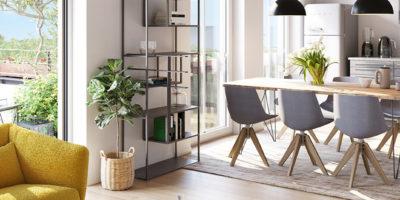 Küche und Essbereich der Maisfeld Immobilie